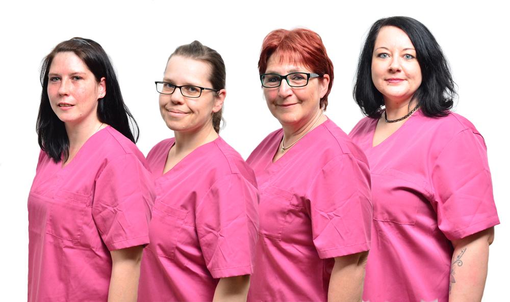 Teamfoto Pflegeteam Schunke